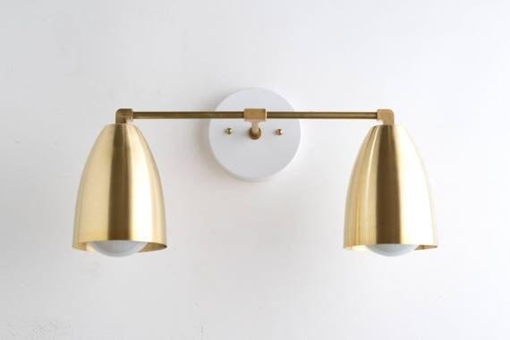 Bathroom Light Fixtures Mid Century Modern modern brass fixture bathroom lighting brass vanity lamp