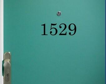Custom Door Number Decal