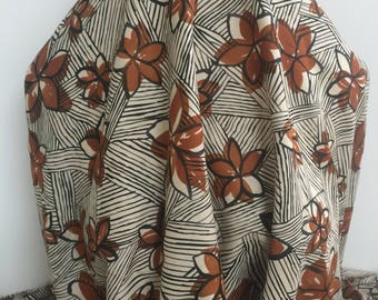 "17-311 Polynesian ""Wood Cut"" Style Print - Sold by the Yard"