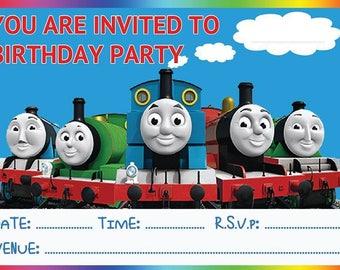 Thomas & Friends A6 Children's Birthday Party Invitations