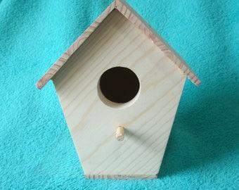 Unfinished Pine Birdhouse, set of 10