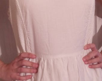 Embroidered white cotton dress