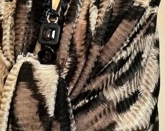 Christmas annabe gift shawl knit animal skin pattern
