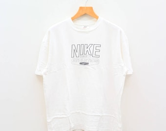 Vintage NIKE Athletics Since 71 Sportswear White Tee T Shirt Size L