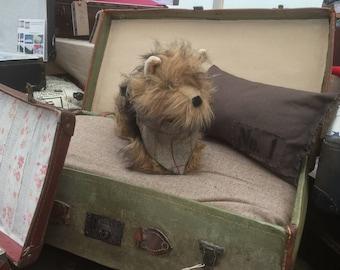 Pet bed - vintage suitcase