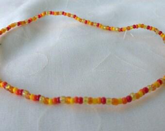 seed beads ankle bracelet