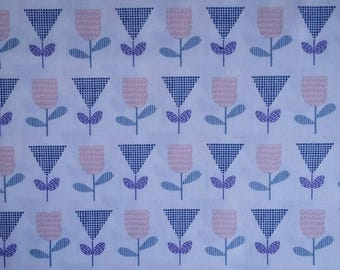 Makower Andover flower floral 100% cotton fabric 44 inch / 110cm floral