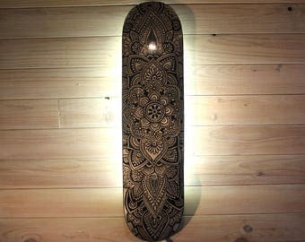 SKATE MANDALA custom applied wall LED
