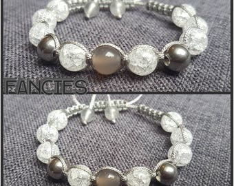 Shamballa Achate Bracelet cracked Glass