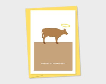 birthday card - Holy Cow! It's your birthday