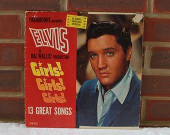 Elvis Presley Girls! Girls! Girls! Vinyl record (Vinyl Album) 1960's