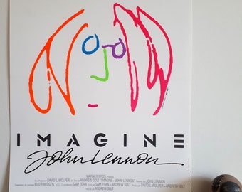 European Movie Poster IMAGINE JOHN LENNON. 1988. Size 15.5 x 20.5 inches