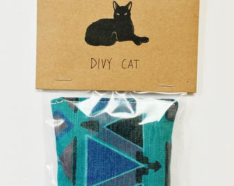 Southwestern Cat Toy - Handmade with 100% organic catnip & vintage up-cycled fabric