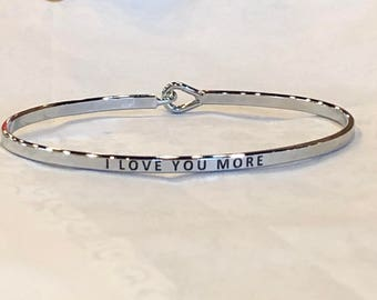 The inspired bangle , ( I love you more )