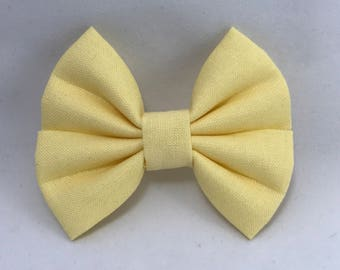 Baby Chick - Fabric Barrette Bow
