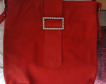 Shoulder bag made of nubuck leather
