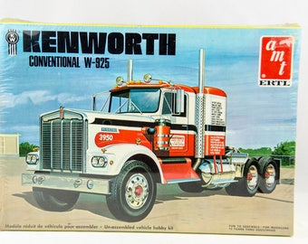 Rare Sealed Vintage AMT Kenworth Conventional W-925 1/25 Model Kit # 6640