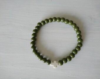 Beads Bracelet gentlemen with gusset of ceramics