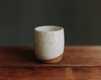 MADE TO ORDER White With Speckles Tea/Coffee Mug/Cup/Tumbler Without Handle