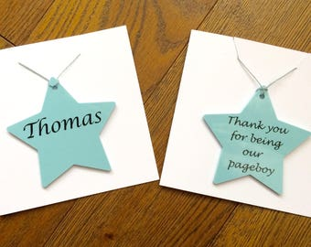 Personalised Thank you, for being our pageboy, flower girl, maid of honour, bridesmaid, will you be my bridesmaid