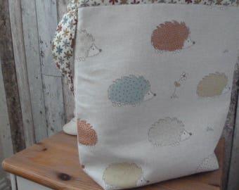 Hedgehog print tote bag/shopper