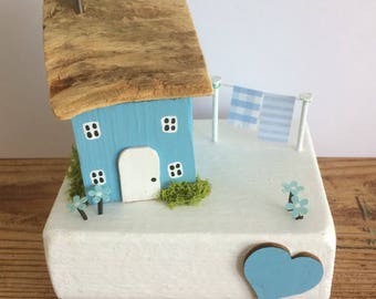 Handmade Miniature Cottage/House, Collectable, Shabby, Unique, Gift.
