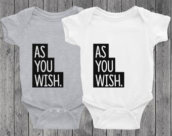 The Princess Bride Onesie | Infant Bodysuit or Baby Tee | As You Wish | Naptime | Cute Onesie | Baby Girl | Baby Boy