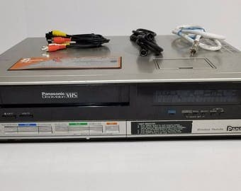 Vintage Panasonic PV-1340 Omnivision VHS Player VCR Recorder (1985) With Cables
