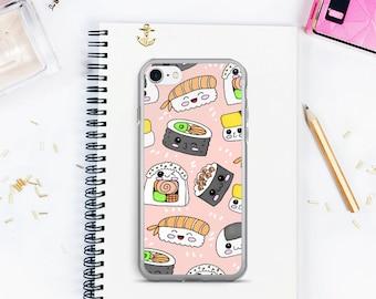 Sushi iPhone case,  iPhone 7 case, iPhone 7 plus case, Sushi phone case, kawaii iPhone case, iPhone 7 cover,
