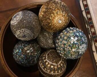 Sparking and shimmer balls