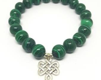Bracelet Perle de Malachite