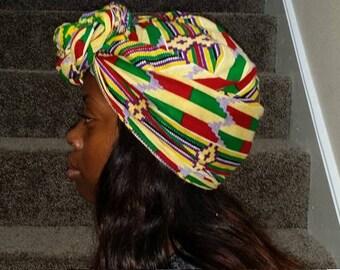 African kente head wrap