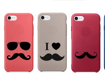 Mustache Decal, Mustache Vinyl, Mustache Stickers, Mustache Decals, Mustache, Phone Cases, Laptop, Phone Decals