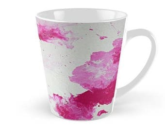 Original Art Print Coffee Tea Mug Cup - Large Raspberry. Custom Order, Pre Order.