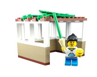 LEGO® Sukkah with girl holding a Lulav and Esrog - Jewish Custom Lego® Set from JBrick