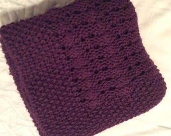Handmade Crochet Afghan / Purple