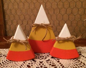 Wooden Candy Corn Set 1