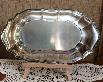Large Oval Silverplated Tray