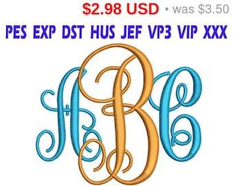 Sale 15% Interlocking Monogram Embroidery Font / Interlocking Monogram Monogram embroidery design/ INSTANT download