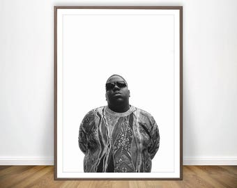 Biggie Smalls Print * Biggie Smalls Poster Biggie Poster Notorious Big Poster Notorious Big Print Art Biggie Smalls Wall Art Biggie Print