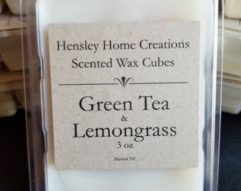 Green Tea & Lemongrass Scented Wax Cubes