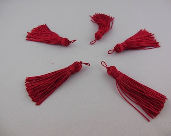 Wire color Tomato rayon tassel