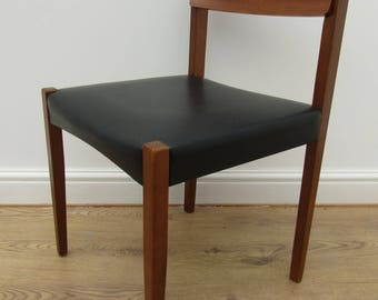 vintage mid century danish modern teak wood dining chairs no 8
