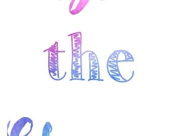 Be The Change Tie-Dye Print