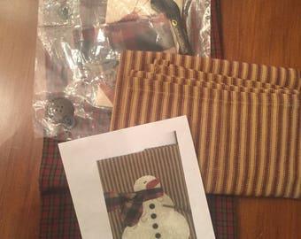 Snowman Hand Towels Kit