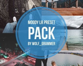 Moody Lightroom Presets Pack by wolf_grammer for (Nature, Urban, Landscape)