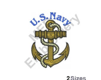U.S. Navy - Machine Embroidery Design
