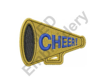 Cheer - Machine Embroidery Design, Cheerleader, Megaphone