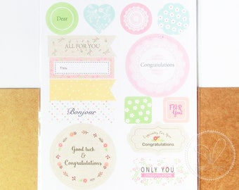 Congratulations Stickers - Decoration, Label, Gift Wrapping, Packaging