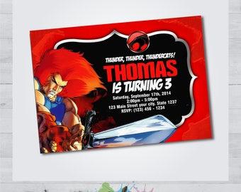 ThunderCats Invitation - ThunderCats Invite - ThunderCats Birthday Party - ThunderCats Personalized - ThunderCats Printable - Occasion